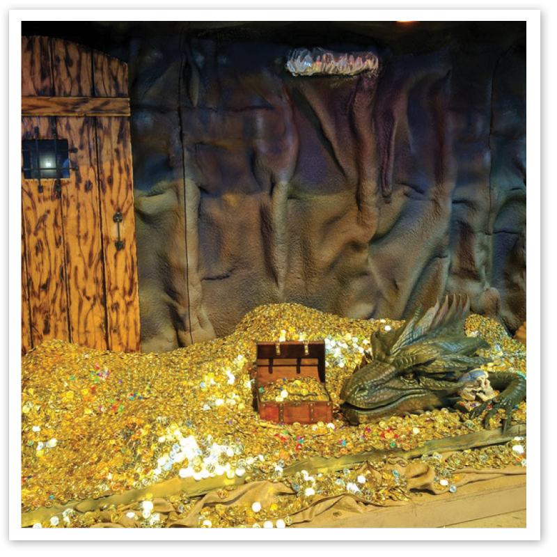 Traveling exhibition interactive museum exhibit dragons quest
